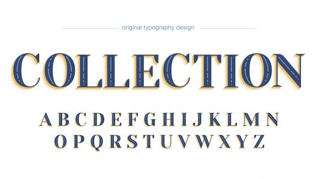 Police artistique personnalisée blue simple serif