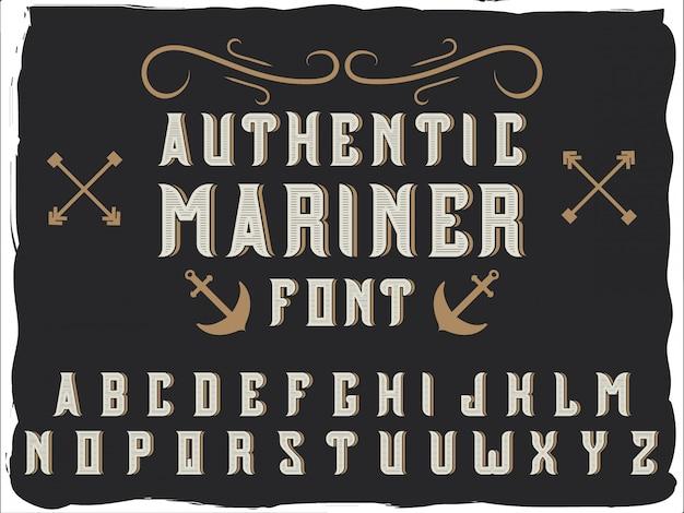 Police de caractères alphabet d'origine