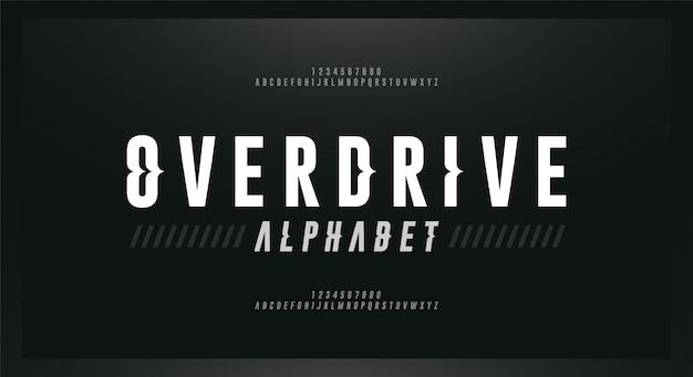 Police de caractères alphabétique moderne italique de sport. polices de style vague typographie
