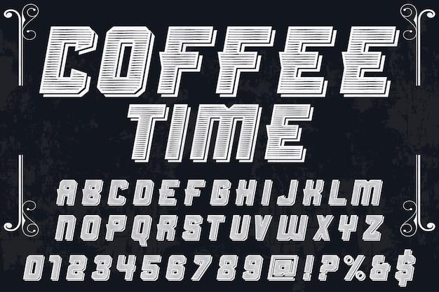 Police de caractères artisanale nommée coffee time