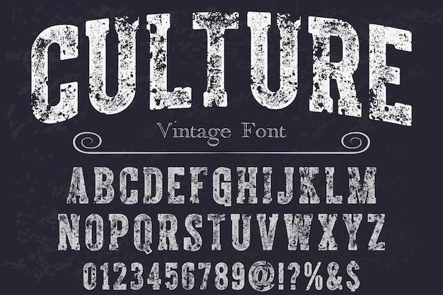 Police de caractères artisanale nommée culture