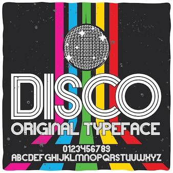 Police de caractères disco