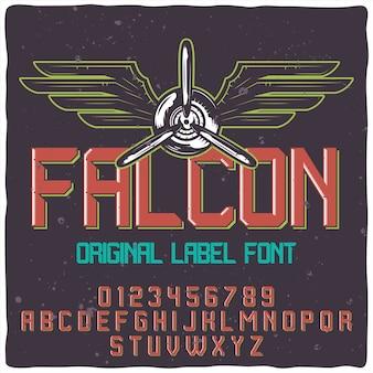 Police de caractères falcon