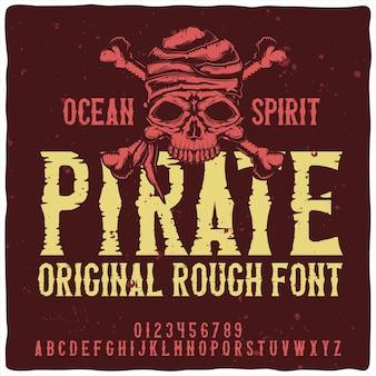 Police de caractères pirate