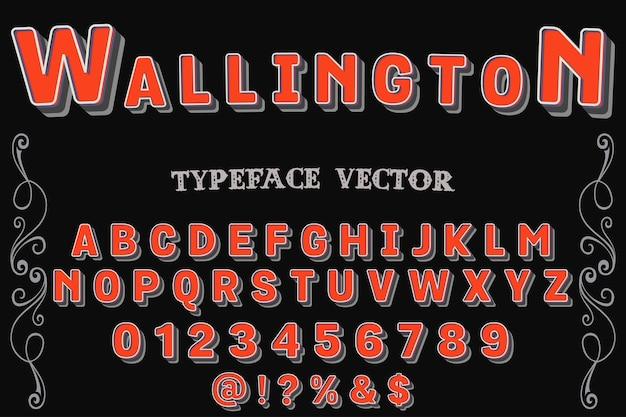 Police de caractères de script nommée wallington