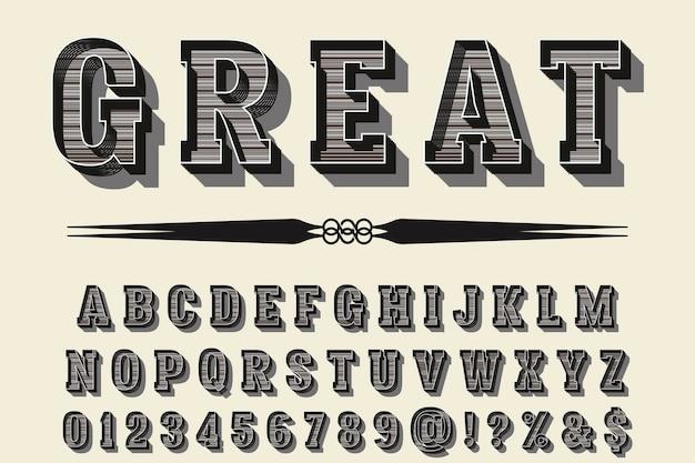 Police de caractères vintage nommée alphabet great