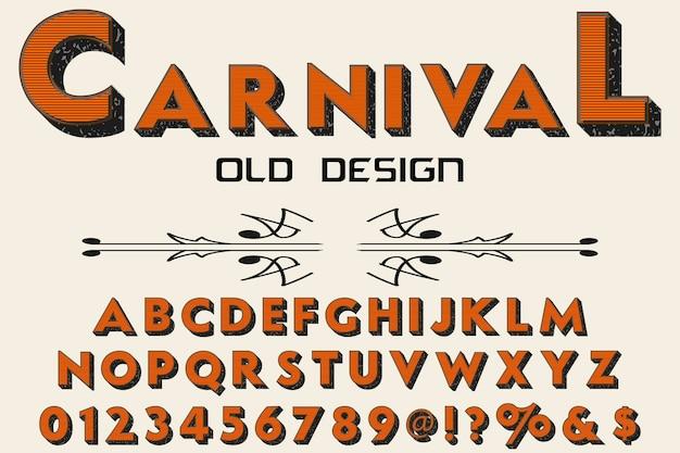Police de caractères vintage nommée carnaval