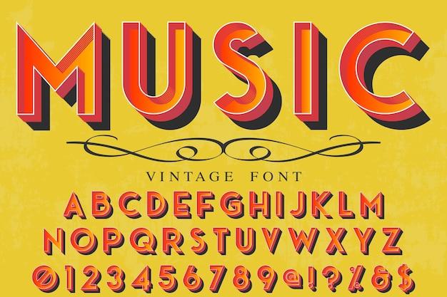 Police de caractères vintage nommée musique
