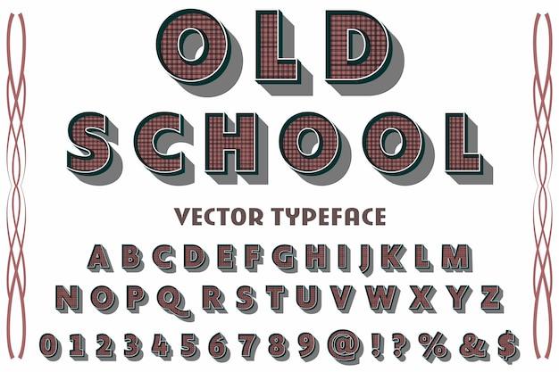 Police de caractères vintage nommée old school