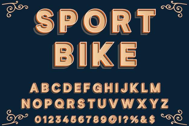 Police de caractères vintage nommée sport bike