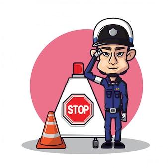 Police de la circulation mignonne