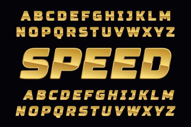 Police colorée stylisée et alphabet pour la création de logo