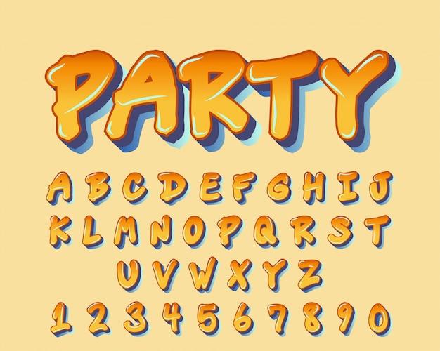 Police de conception colorée typographie manuscrite