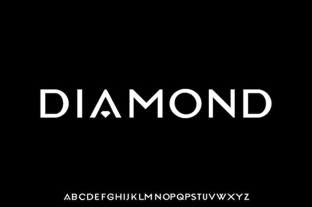 Police diamant l'élégant et de luxe