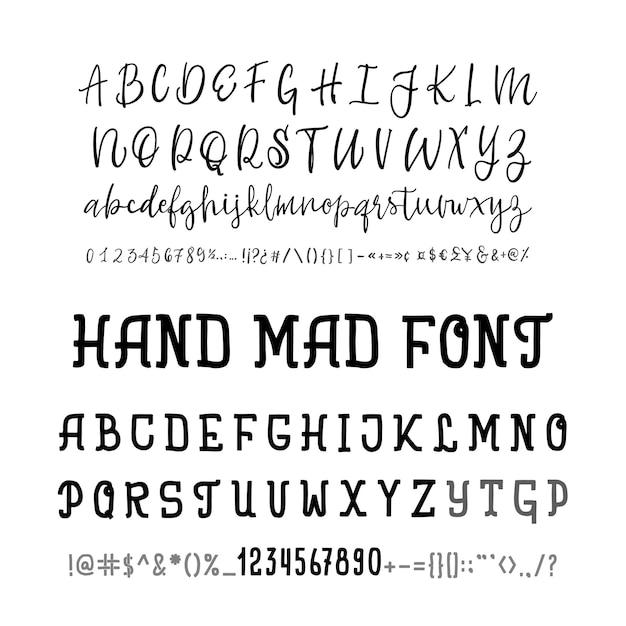 Police du logo de l'alphabet typographie deux polices