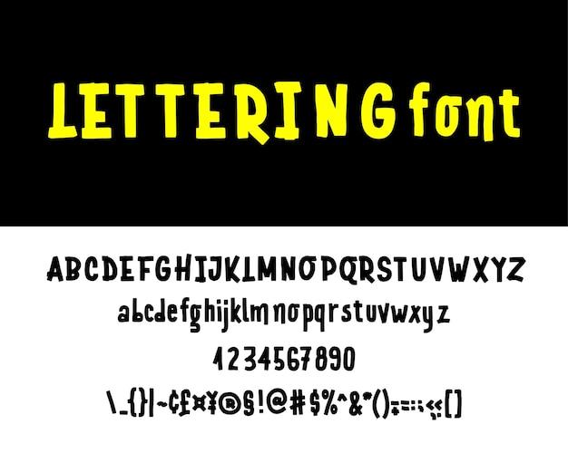 Police du logo de l'alphabet typographie