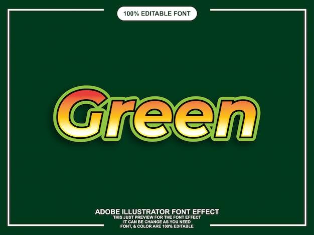 Police éditable de style graphique vert moderne gras