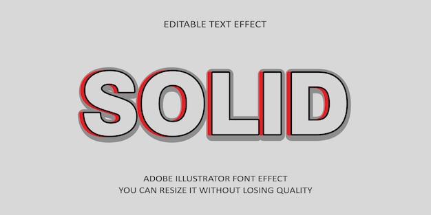 Police d'effet de texte modifiable vectorielle solide