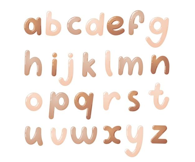 Police d'enfants colorée. alphabet brillant pour enfants en style cartoon. typographie vectorielle pour la conception de l'école, du préscolaire et de la maternelle.