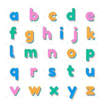 Police de jeu de lettres minuscules vectorielles