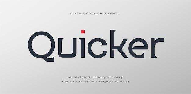Police de lettres de l'alphabet élégant. mode minimal de lettrage serif moderne