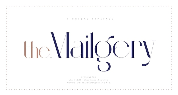 Police de lettres de l'alphabet élégant et nombre de lettres urbaines classiques polices de typographie de mode minimale