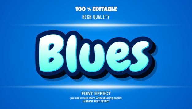 Police modifiable d'effet de texte blues