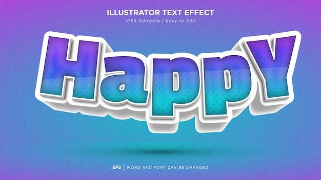 Police modifiable d'effet de texte heureux