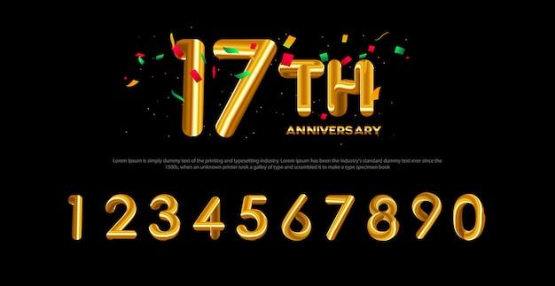 Police et numéro de l'alphabet fluide moderne. polices de style ballon typographie