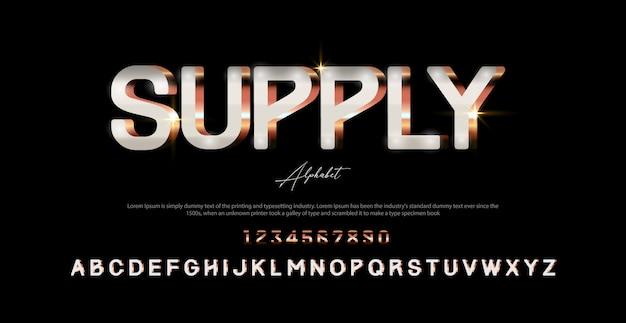 Police et numéro de l'alphabet moderne. typographie polices de style urbain