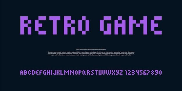 Police de pixel violet moderne