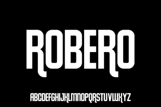 Police rétro condensée urbaine robero