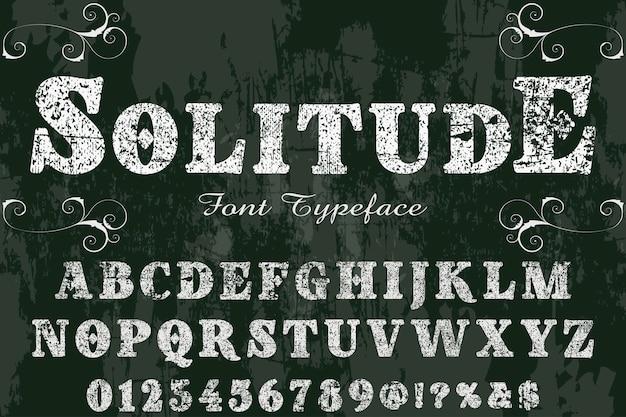 Police shadow effect label design solitude
