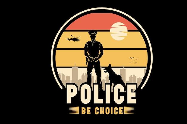 La police soit la couleur de choix orange et jaune