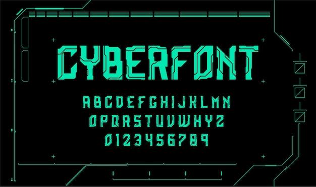 Police technologique cyberpunk lettres et chiffres de science-fiction police futuriste