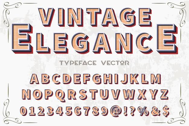 Police vintage alphabétique style graphique élégance
