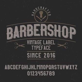 Police vintage nommée barbershop. bonne police à utiliser dans n'importe quel logo vintage.