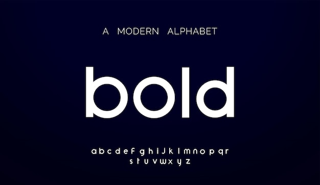 Polices d'alphabet abstrait moderne.