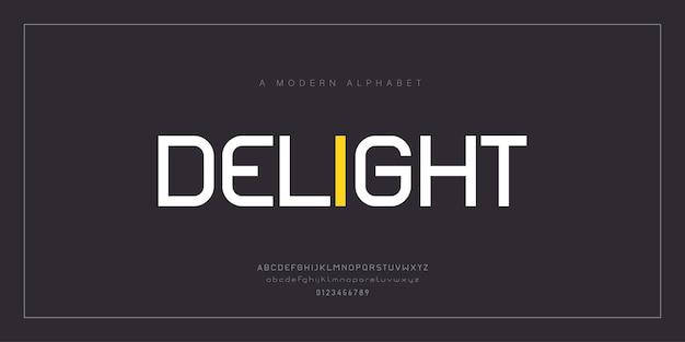 Polices de l'alphabet moderne abstrait. conception de typographie. police de logo numérique et créative