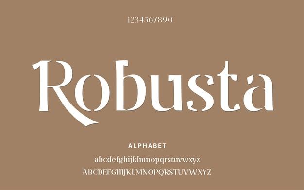 Polices d'alphabet moderne abstraite. typographie pochoir mode numérique urbaine future police de logo créatif.