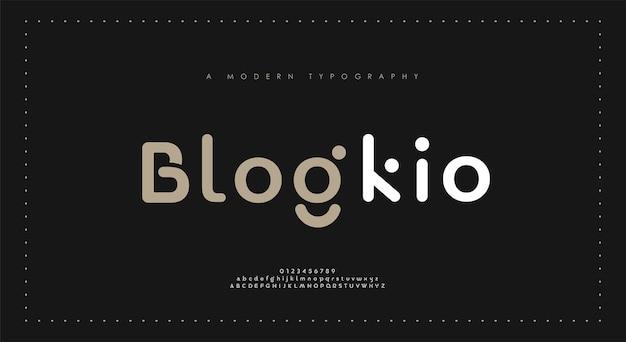 Polices d'alphabet moderne minimales. police de logo créatif futur de la mode numérique urbaine minimaliste typographie.