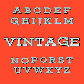 Polices alphabet vintage style vintage