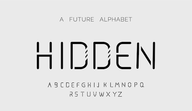 Polices modernes créatives de l'alphabet moderne
