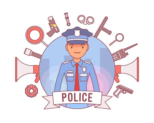 Policier et armes