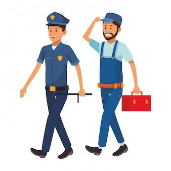 Policier et ouvrier