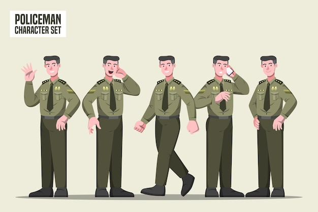 Policier - personnage profesi