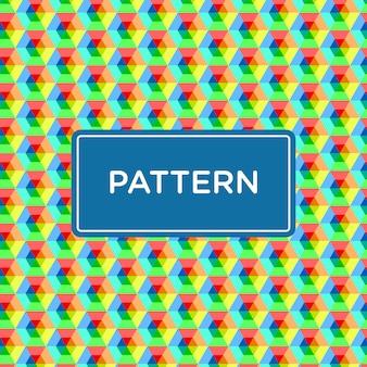 Poligon seamless pattern fullcolor