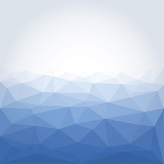 Poligonal bleu abstrait