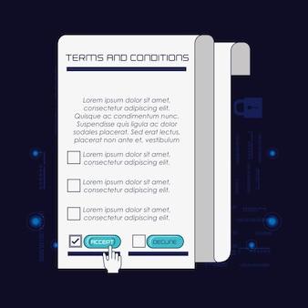 Politique de confidentialité conception d'illustration vectorielle de sécurité numérique