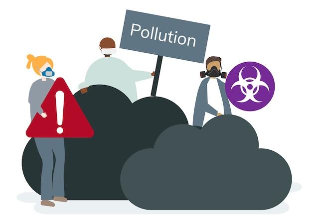 Pollution de l'air smog et mauvais air